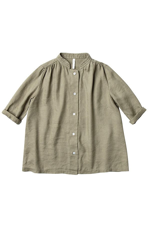 【30%OFF】button shirt dress olive