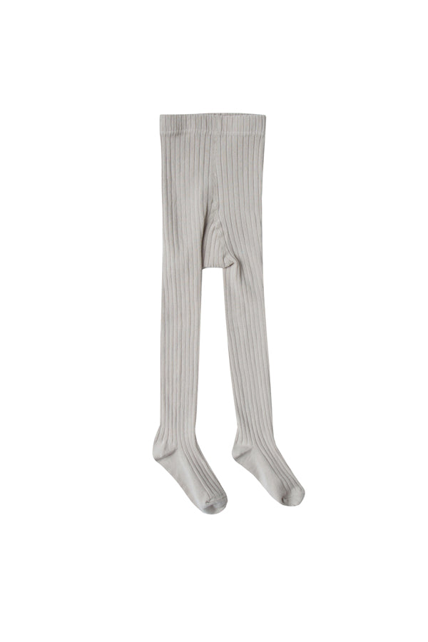 【20%OFF】solid ribbed tights dove