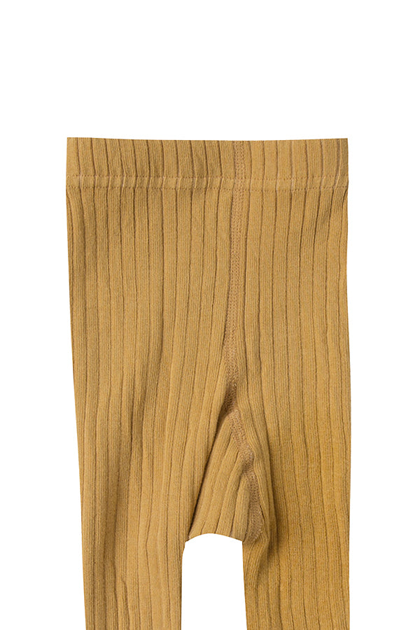 【20%OFF】solid ribbed tights marigold