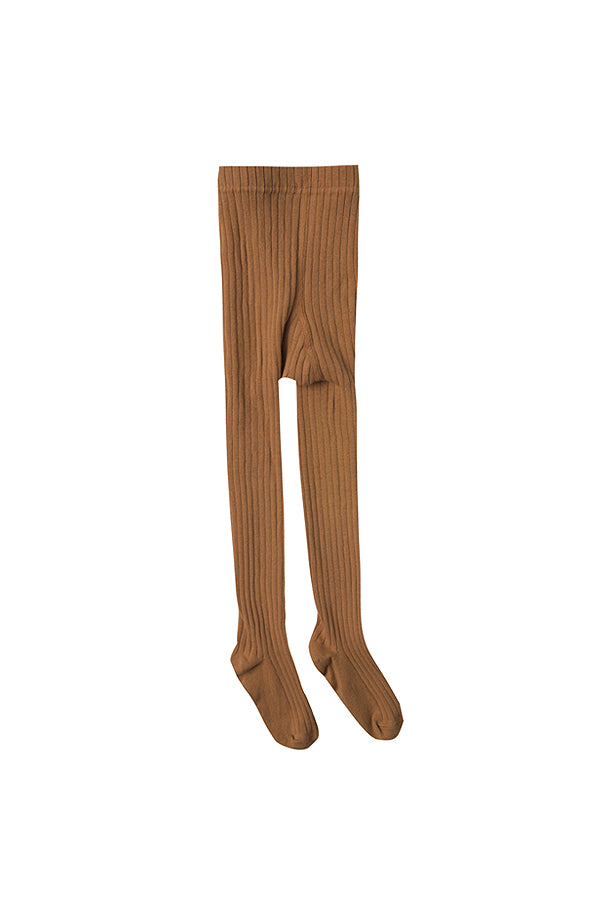 【20%OFF】solid ribbed tights saddle