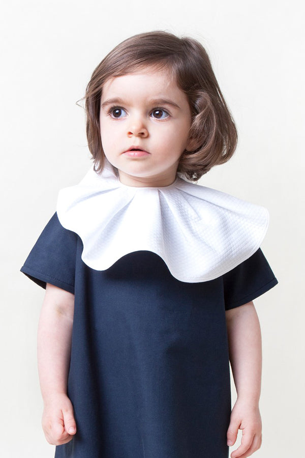 Rocket Pear waved collar BIB