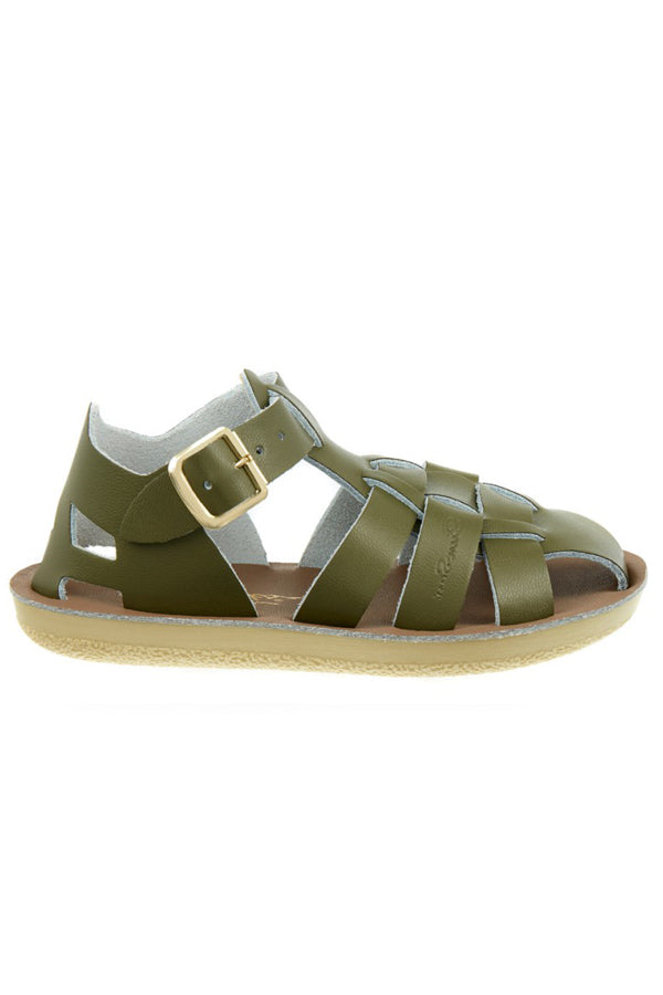 【S様ご予約商品】Salt Water Sandals Sun-San Shark オリーブ 17cm