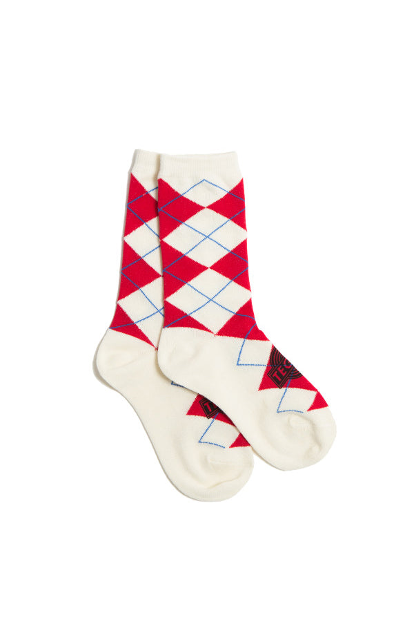 【10F%OF】TEG Argyle Socks WHITE