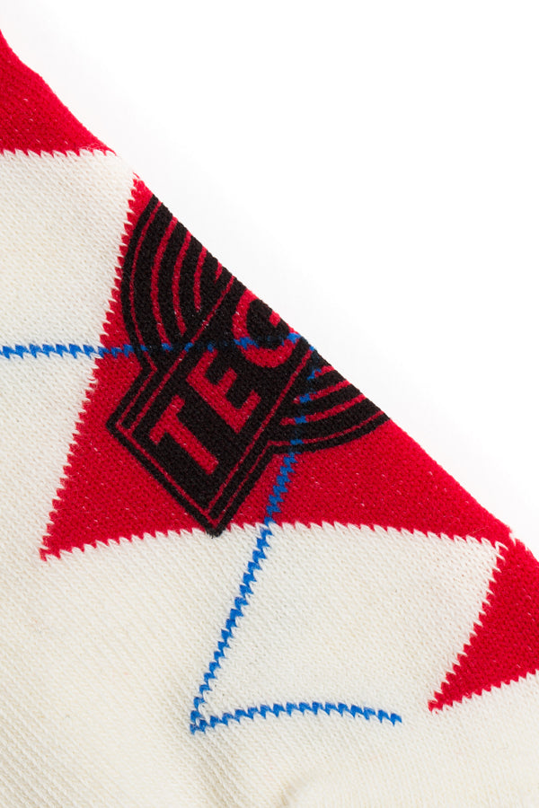 【10%OFF】TEG Argyle Socks WHITE