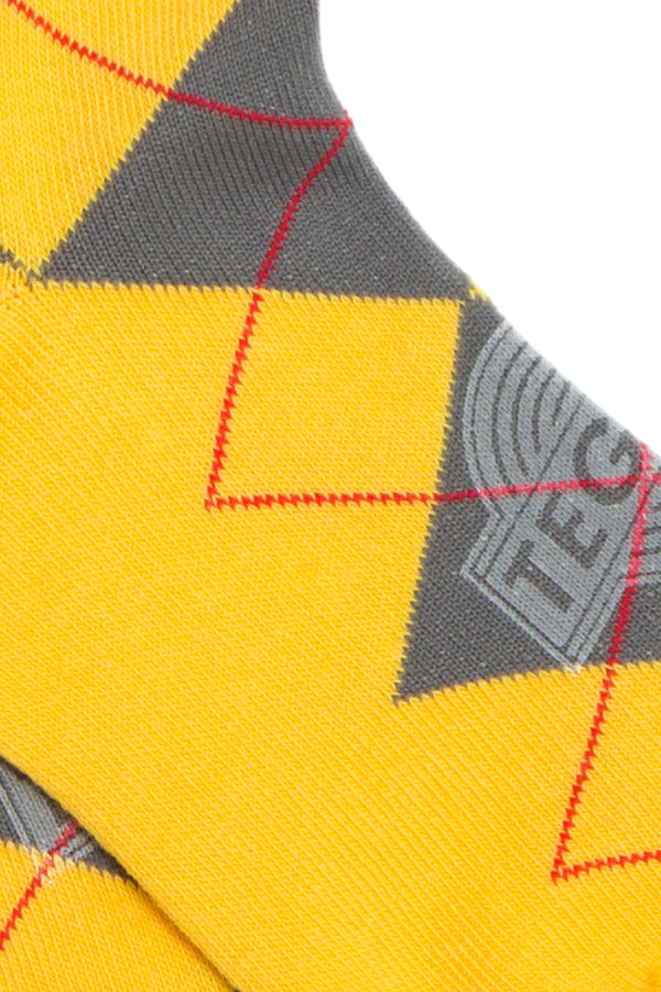 【10%OFF】TEG Argyle Socks Yellow