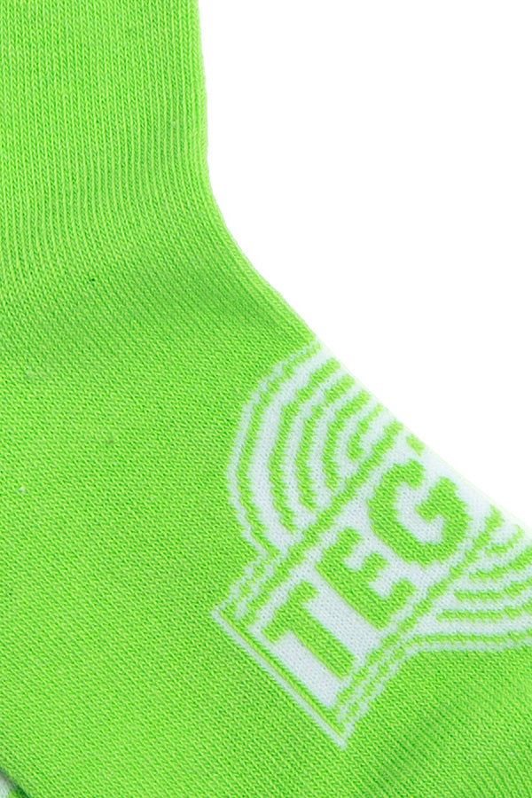 【10%OFF】TEG Neon Line Socks Green