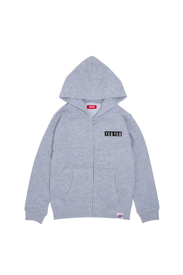 【35%OFF】TEG TEG Zip Up Hoodie GREY