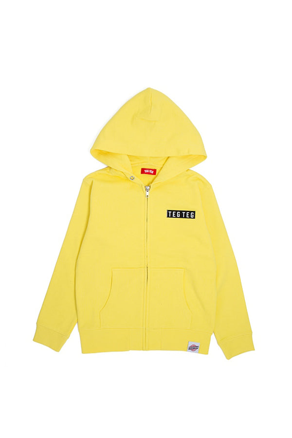 【35%OFF】TEG TEG Zip Up Hoodie YELLOW