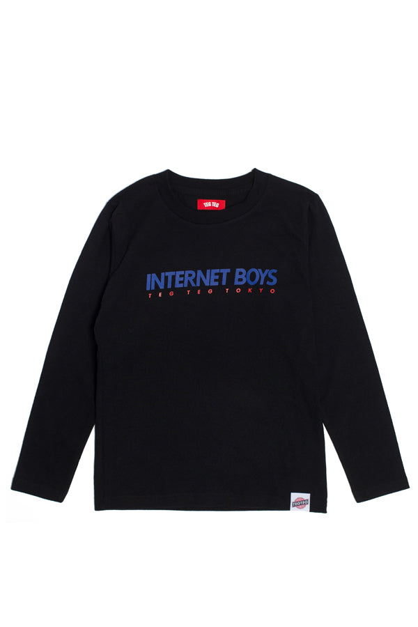 【35%OFF】TEG INTERNET BOYS LS Tee BLACK
