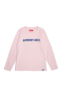 【35%OFF】TEG INTERNET GIRLS LS Tee PINK