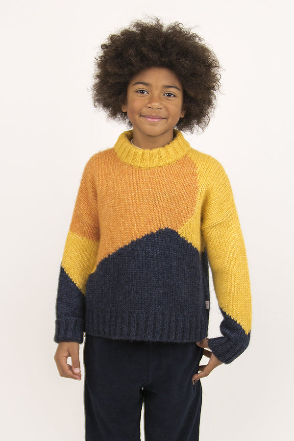 "TINYCOTTONS ""FUJI"" COLOR BLOCK SWEATER"