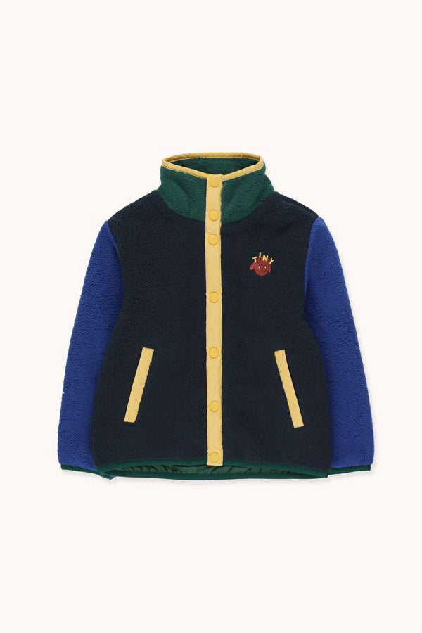 TINYCOTTONS COLOR BLOCK POLAR JACKET