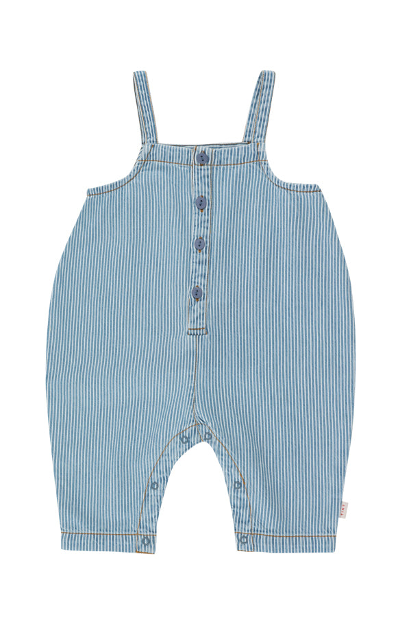 TINYCOTTONS STRIPED DENIM DUNGAREE