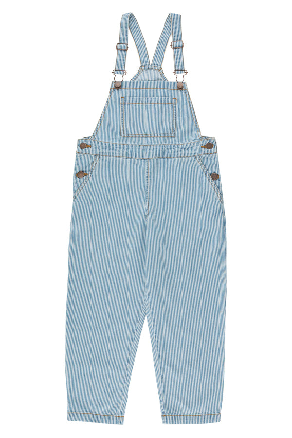 TINYCOTTONS STRIPED DENIM DUNGAREE KIDS