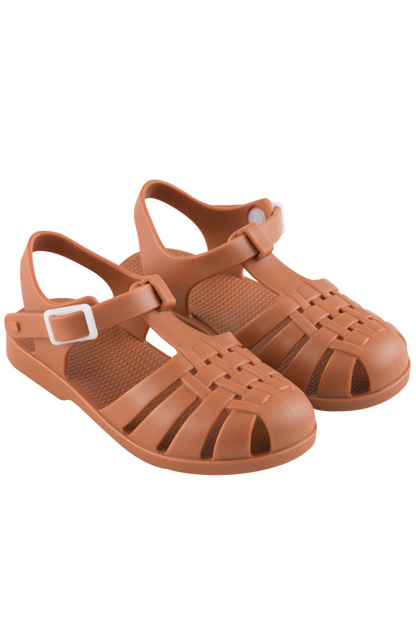 TINYCOTTONS x igor KIDS JELLY SANDALS nut brown