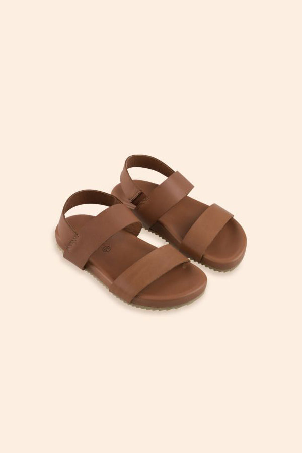 TINYCOTTONS ELASTIC SANDALS nut brown