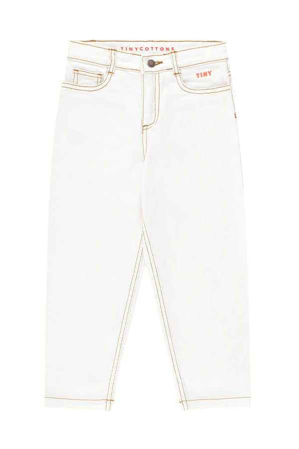TINYCOTTONS TINY BAGGY JEANS off-white