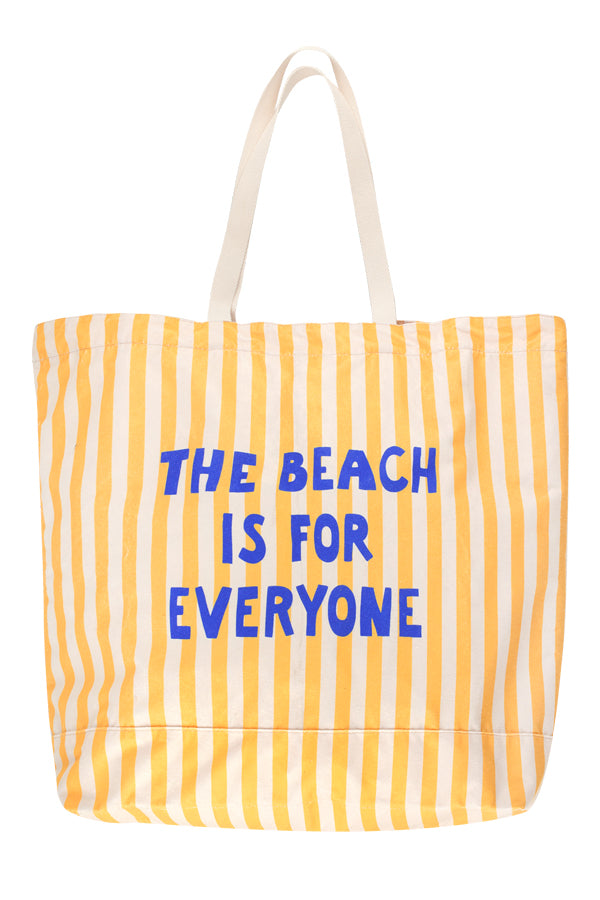 TINYCOTTONS THE BEACH IS FOR EVERYONE TOTE BAG