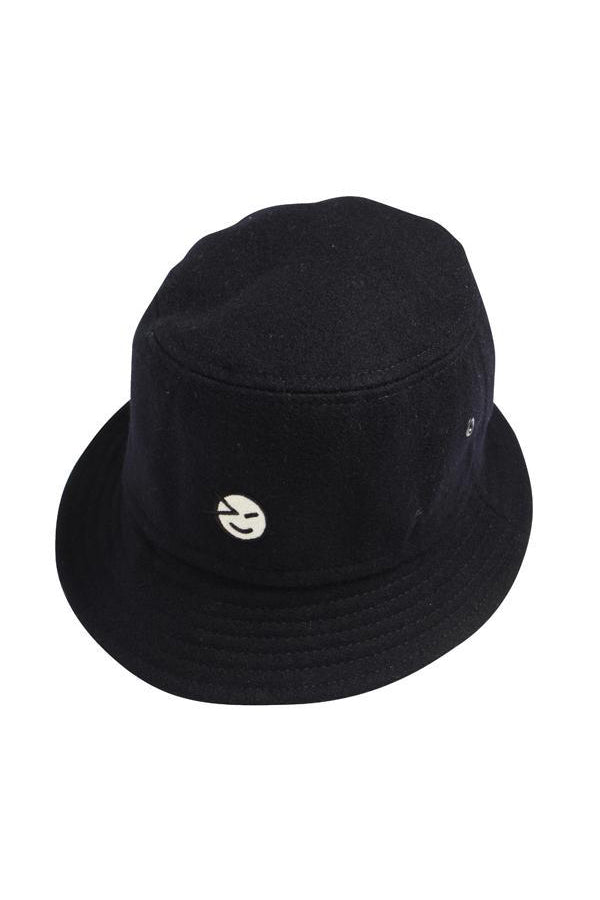 Bucket Hat Navy Melton