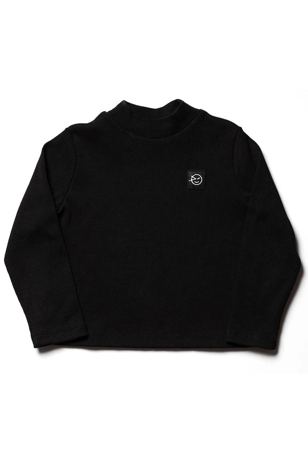 WYNKEN Demi Turtle Neck Black Medium Rib