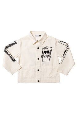 LOVE MACHINE JACKET ECRU/BLACK