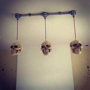 3 Hanging skull light