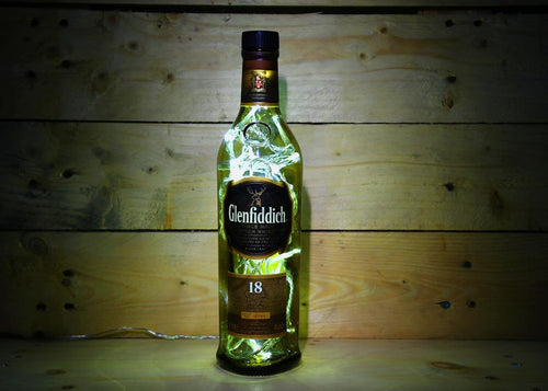 Glenfiddich illuminated bottle lamp