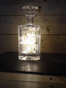 Illuminated Crystal style glass decanter