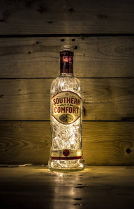 Illuminated Southern Comfort Bottle lamp