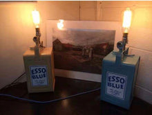 Load image into Gallery viewer, Vintage Esso petrol can table lamp, Man cave or Garage lamp with vintage bulb