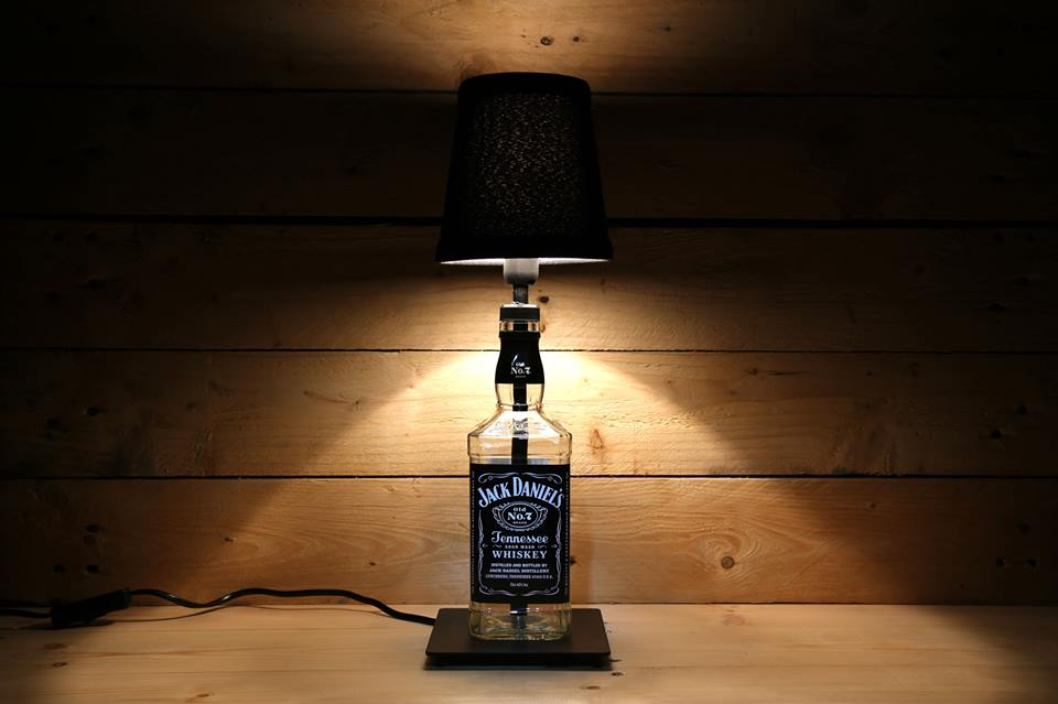 Jack Daniels Table lamp with small black shade