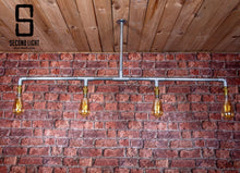 Load image into Gallery viewer, Industrial steel 4 bar ceiling light
