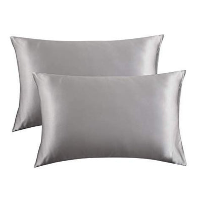 Satin pillowcase for hair & skin (platinum grey)