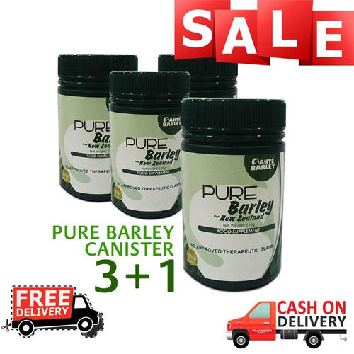 HOT PACKAGE! BUY 3 GET ! Absolutely FREE Sante Barley Juice Canister (110 grams)