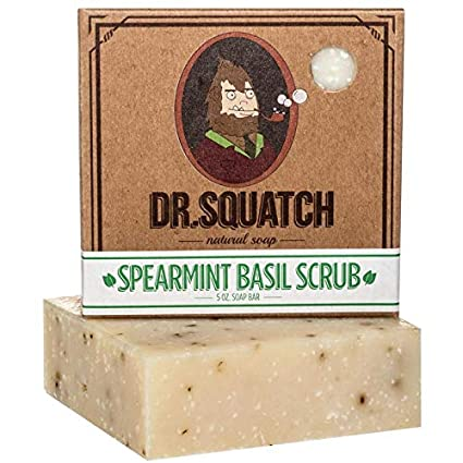 Dr. Squatch Spearmint Basil Natural Soap for Men - SportsnToys
