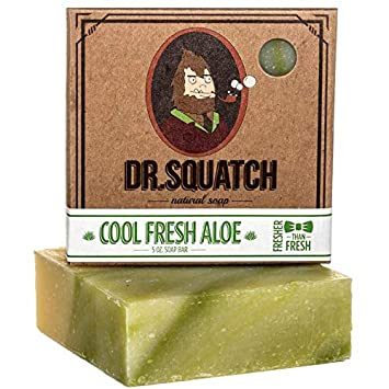 Dr. Squatch Cool Fresh Aloe Soap for Men - SportsnToys