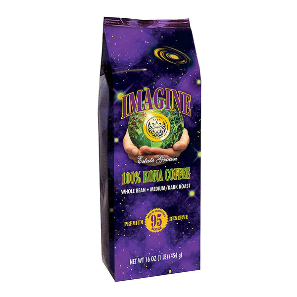 Imagine Kona Coffee Beans - 100% Hawaiian Kona coffee - Medium Dark Roast - SportsnToys