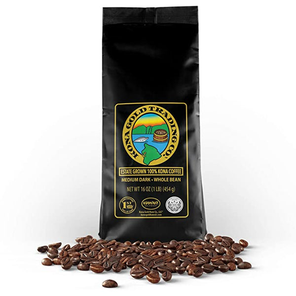 Kona Gold Medium/Dark Roast 100% Kona Coffee - SportsnToys