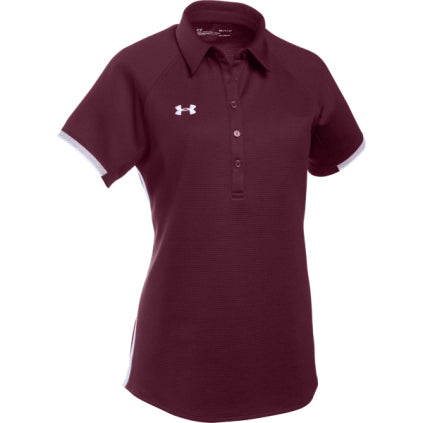Under Armour Women's Rival Polo - Maroon - SportsnToys