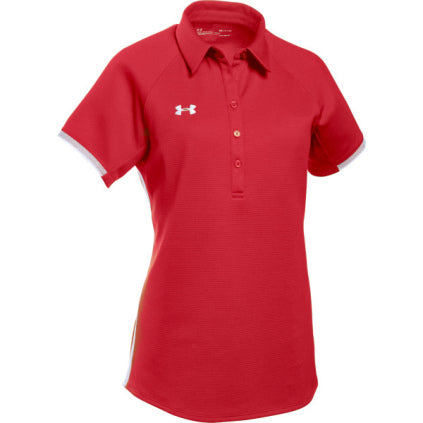 Under Armour Women's Rival Polo - Red - SportsnToys
