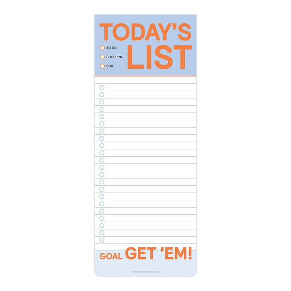 Knock Knock Today's Make-a-List Pad