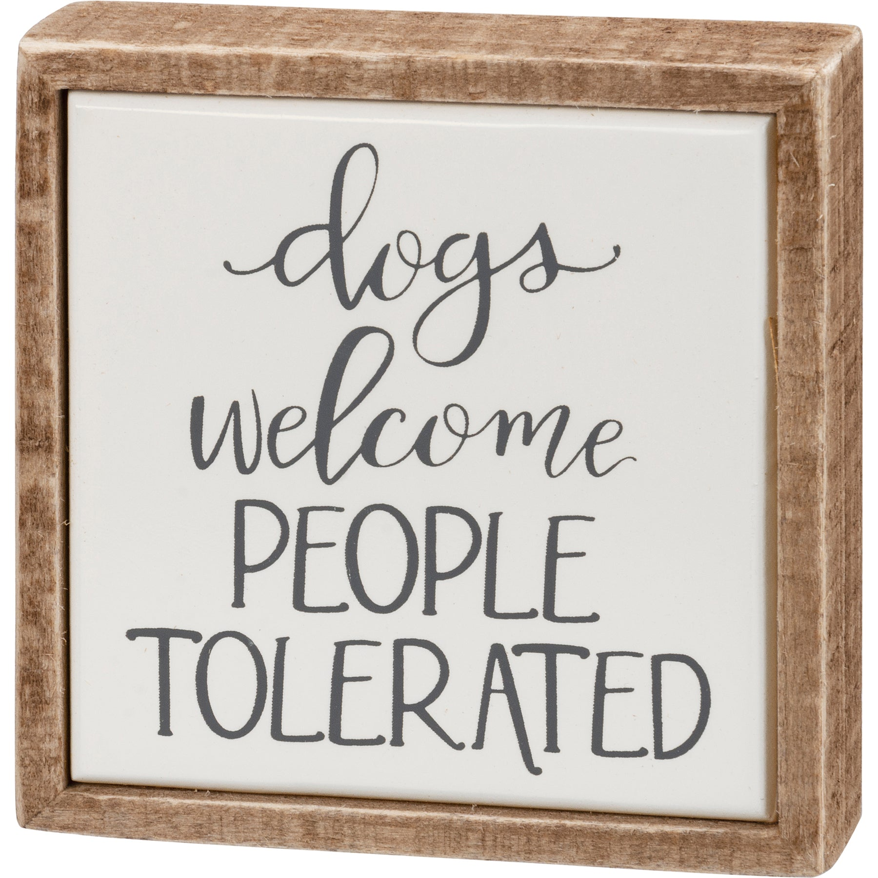 Mini Box Sign Dogs Welcome