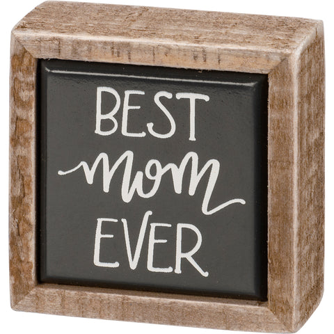 Mini Box Sign Best Mom