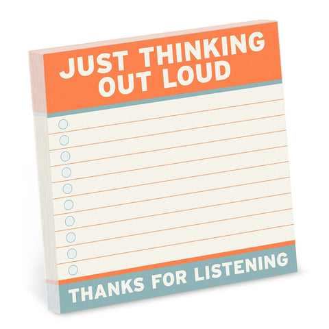 Knock Knock Thinking Out Loud Sticky Notes