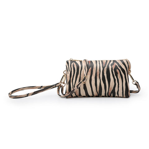 Tiger Crossbody Wristlet Bag