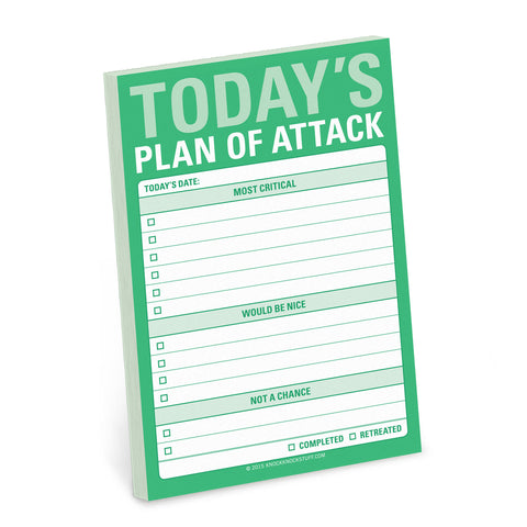 Knock Knock Plan Of Attack Big Sticky Notes