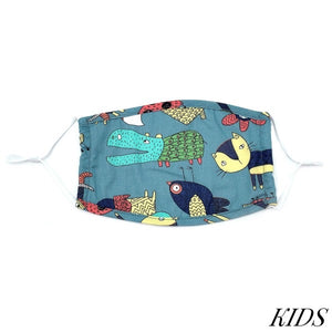Kids Adjustable Animated Print Face Mask