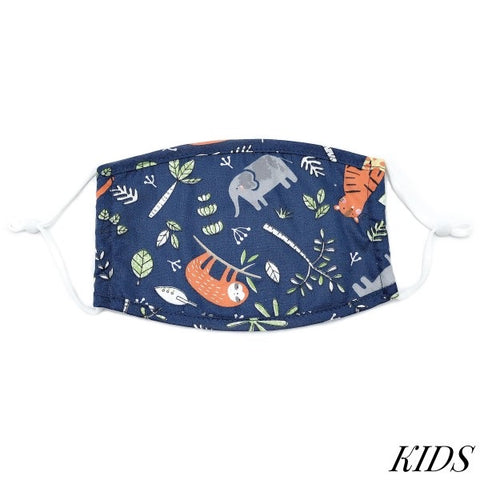 Kids Adjustable Safari Print Face Mask