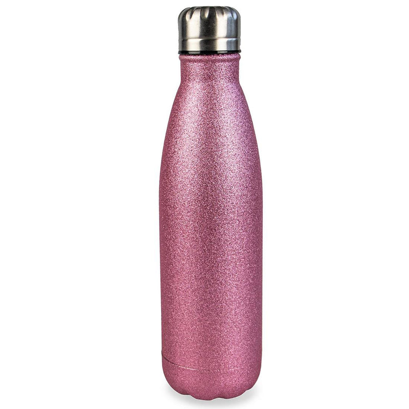 Myga - Metal Pink Glitter Drink Bottle (500ml)