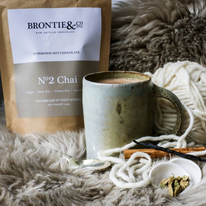 Brontie & Co - Superfood Hot Chocolate - No2 Chai (200g) - TheVeganKind